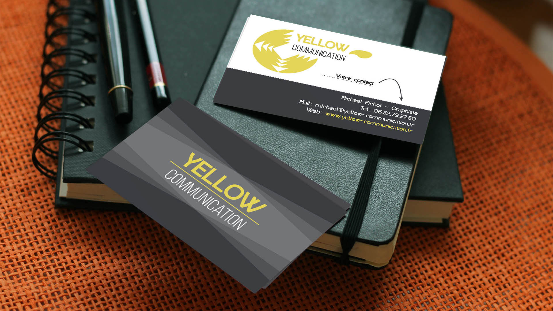 carte de visite Yellow Communication