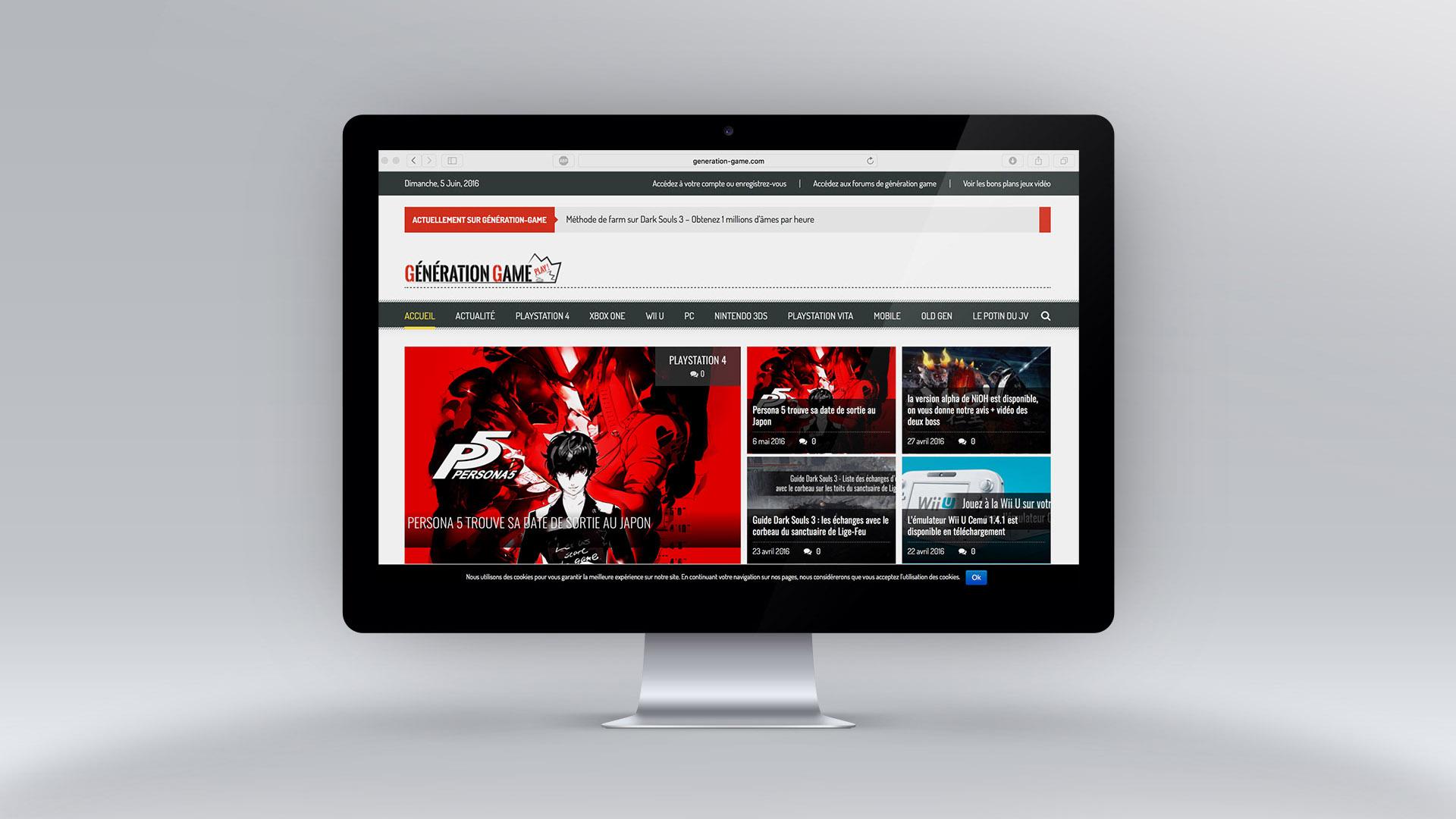 Site Web Génération-Game